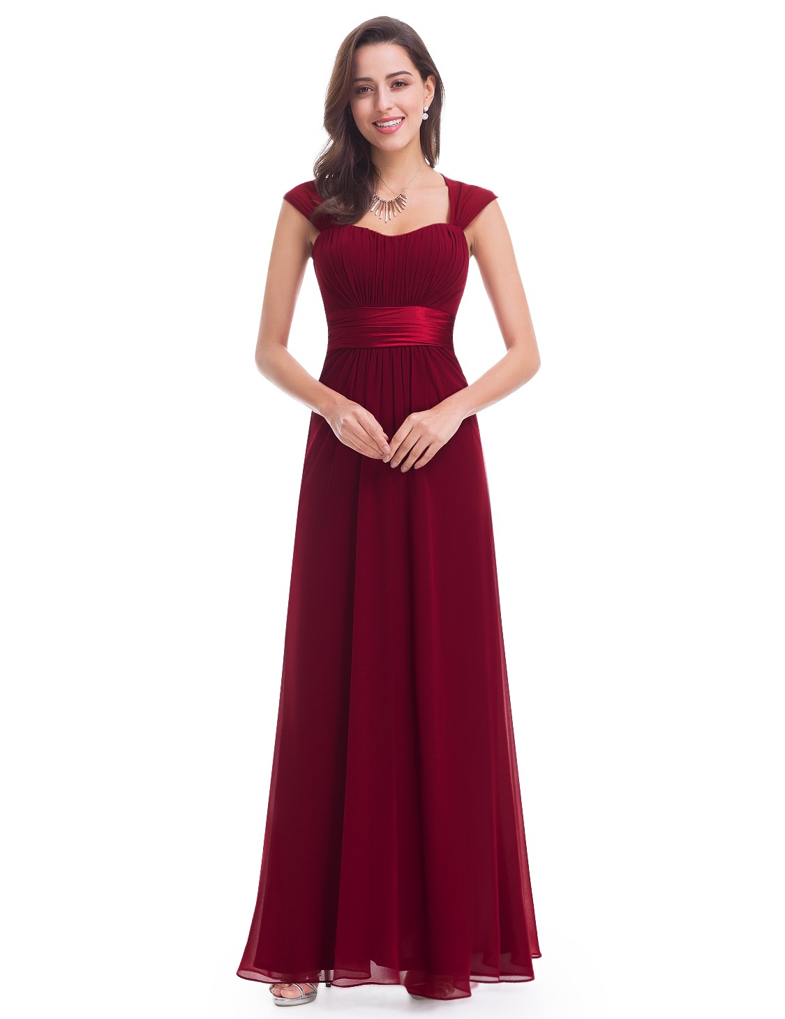 floor length dress sleeveless floor length evening dress with empire waist SDXDDTM