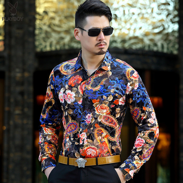 Shirts with floral patterns and tropical print