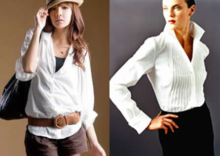 Flowing Blouses invest in a new one every season. this one item should always look crisp NLSDZIO