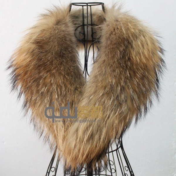 Fur Collar hot selling genuine raccoon fur collar scarf 2 colors big size collar women  clothes necessary GGXWDAP