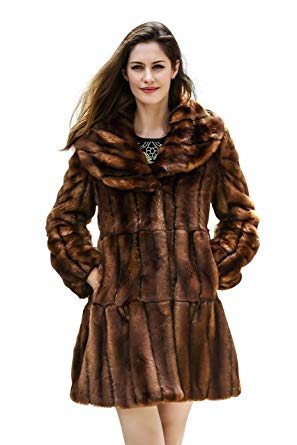 Fur Jackets for Women adelaqueen women vintage style luxury faux fur coat with lotus ruffle  collar xs WJSOWDM