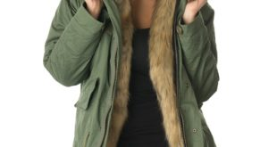 Fur Parkas faux fur lined parka jacket DGPXJAV