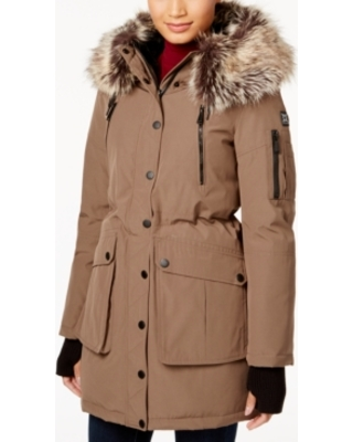 Fur trim parkas bcbgeneration faux-fur-trim parka NFTPPCL