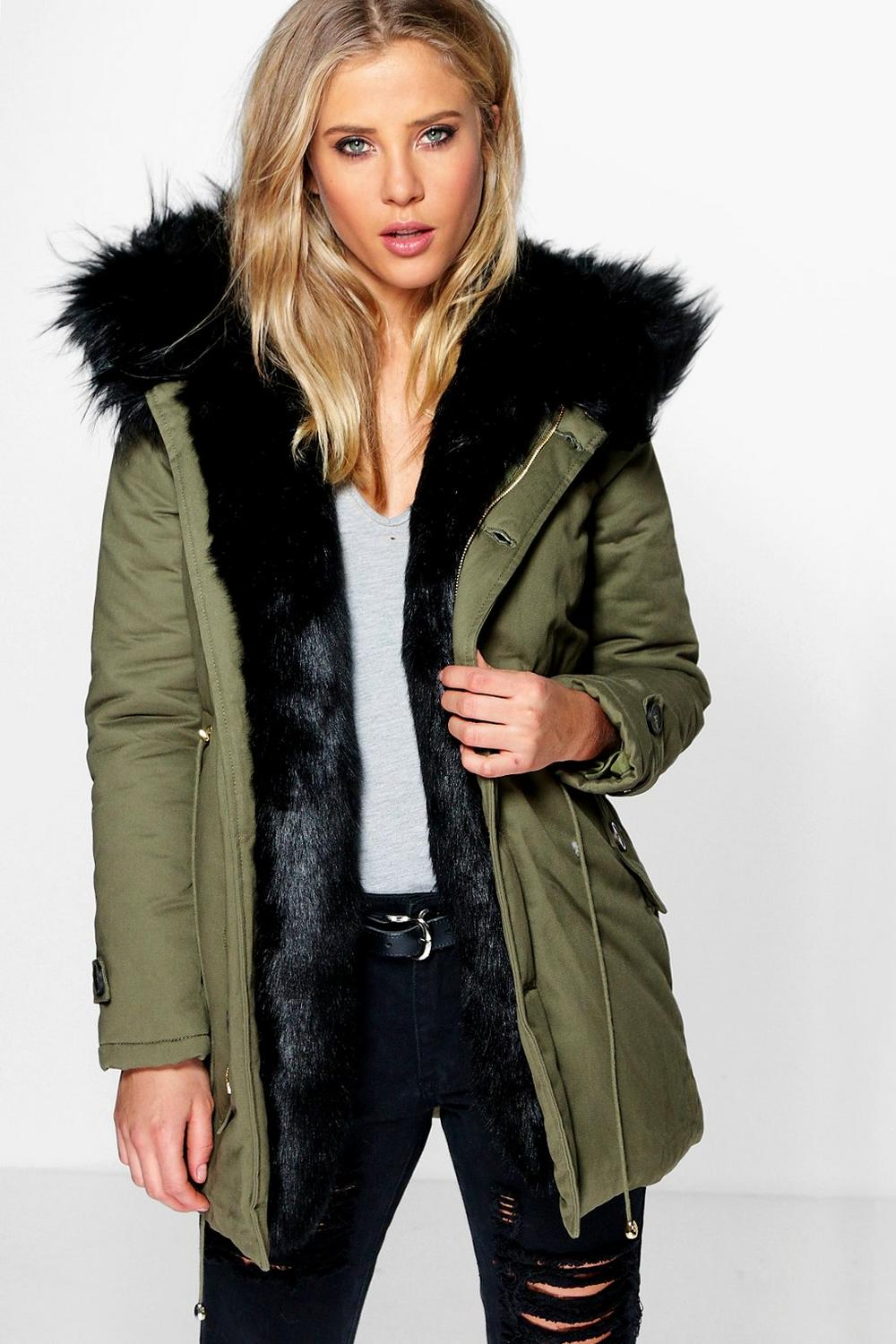 Fur trim parkas boutique maria faux fur trim parka SFDVDGT