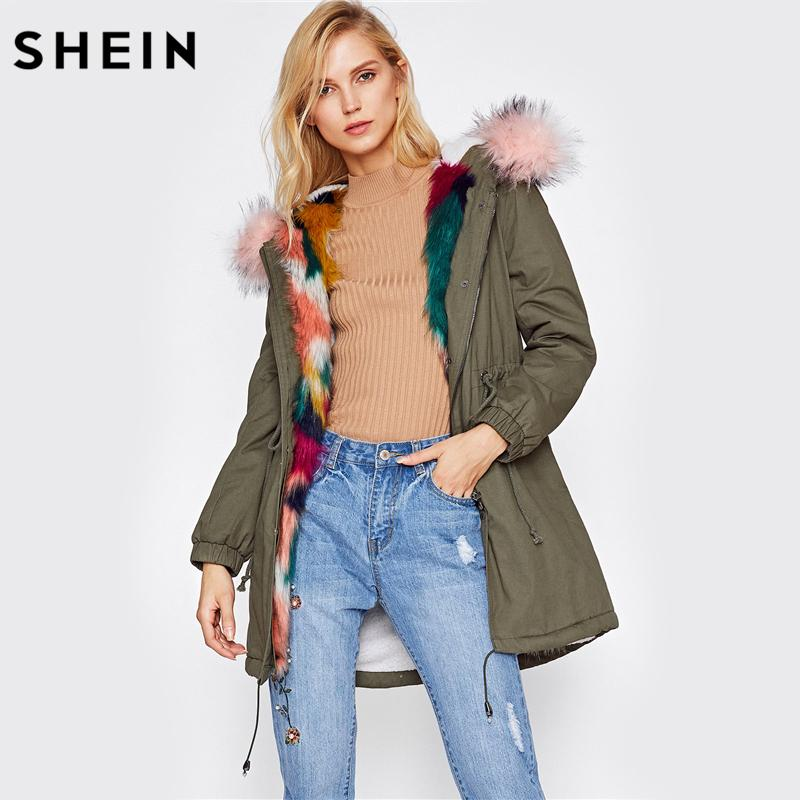 Fur trim parkas shein-faux-fur-trim-split-back-parka-coat.jpg VEMQWKL