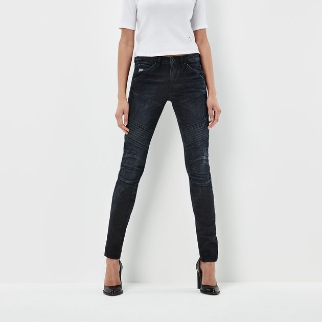G-Star 5620 Jeans 5620 custom mid skinny jeans | dk aged | g-star raw® LSEHCIW