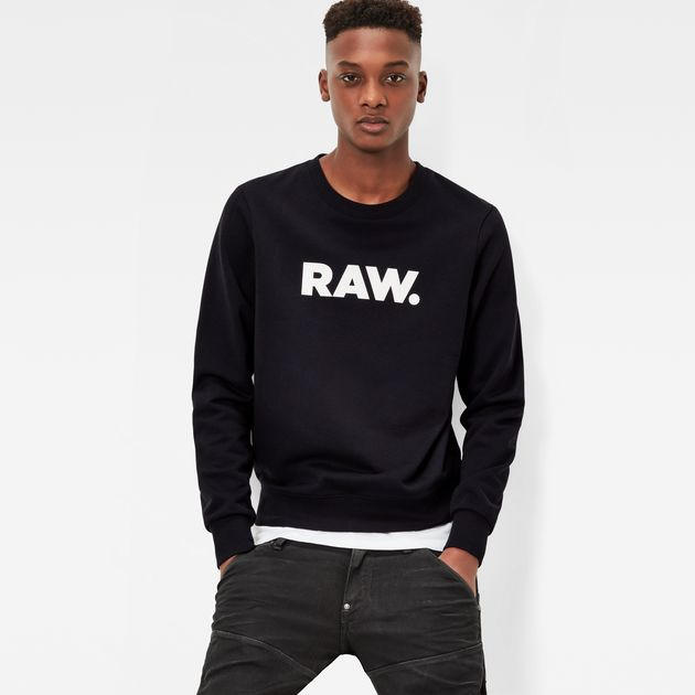 G-STAR RAW SWEATER hodin sweater | black | g-star sale men | g-star raw® GQTHAPJ