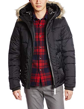 G-Star Winter Jackets g-star whistler hooded fur insulated winter jacket - raven - mens - 2xl JDHCXOU