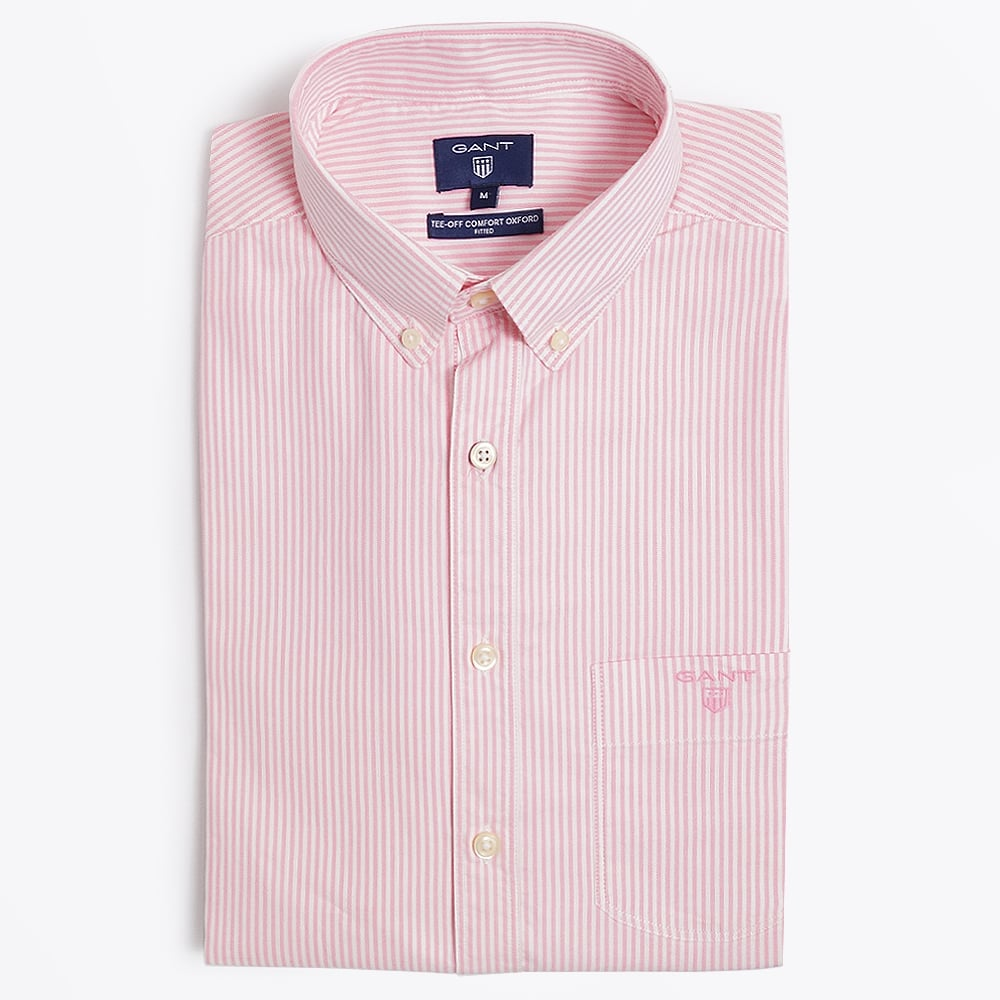 GANT SHIRTS gant - tee off comfort oxford shirt - fitted - lipstick KBMAJHQ
