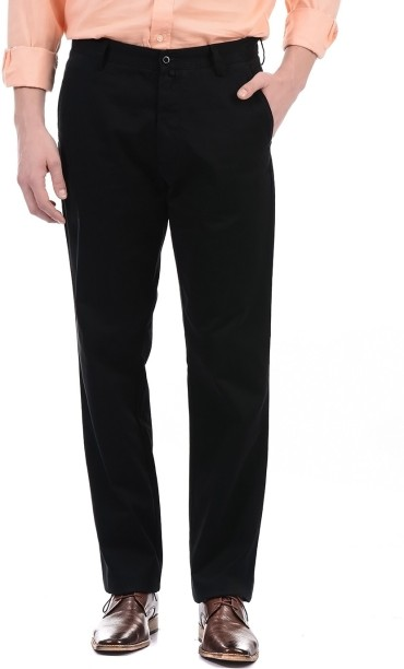 GANT TROUSERS gant regular fit men black trousers DUMRTYW