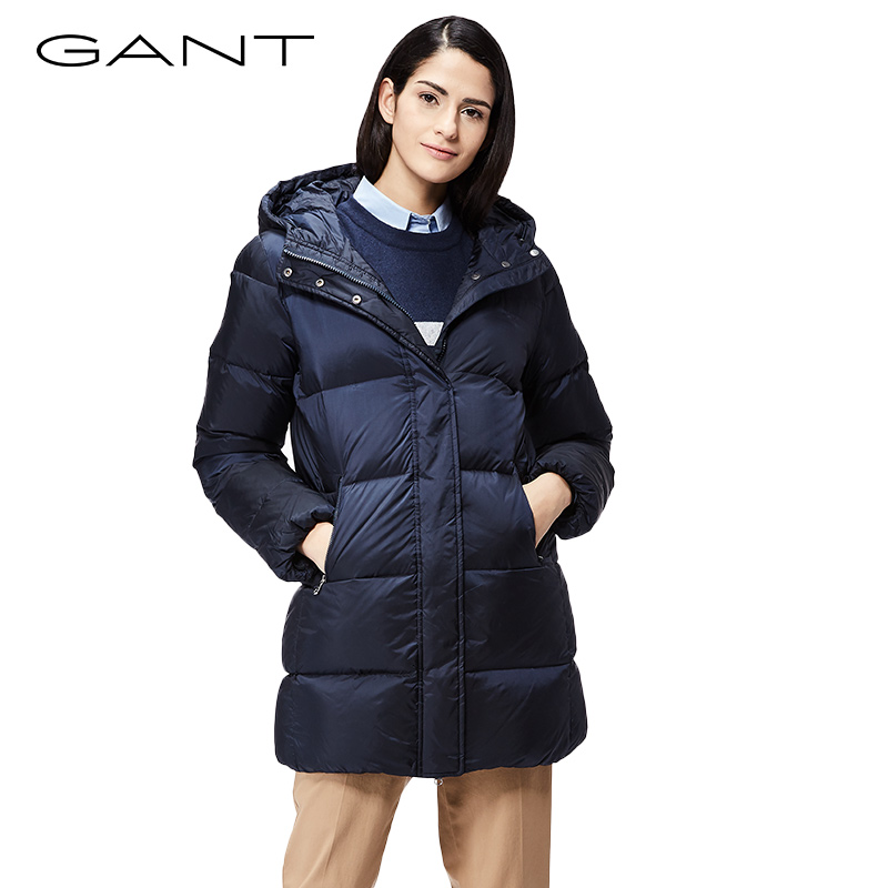 Gant Winter Jackets gant gantt ladies coat winter long hooded down jacket women warm color  thickening 470716 HOUXOVW