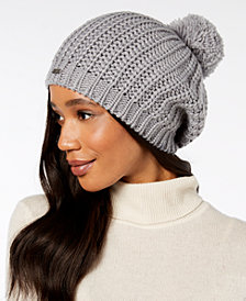 Hats for women steve madden ribbed-knit pom pom beanie RHNWSKQ