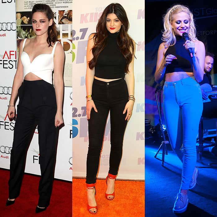high waist jeans with crop top crop tops with high-waist pants XJQCVHQ
