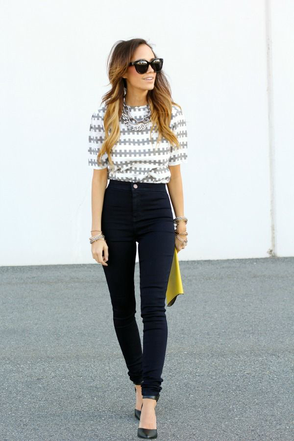 high waisted jeans outfit how to wear high waisted jeans LZHGECN