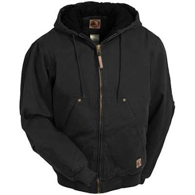 Hooded Jackets berne jackets: black hj51bk jacket TXRRUSG