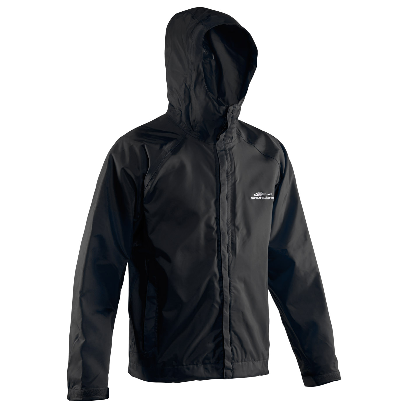 Hooded Jackets weather watch hooded jacket black front view LMREFJK
