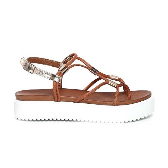 INUOVO Sandals inuovo brown leather platform sandals OKBPBFM