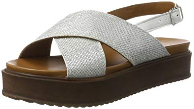 INUOVO Sandals inuovo sandals shoes 7157 silver size 37 silver XEVGRNK