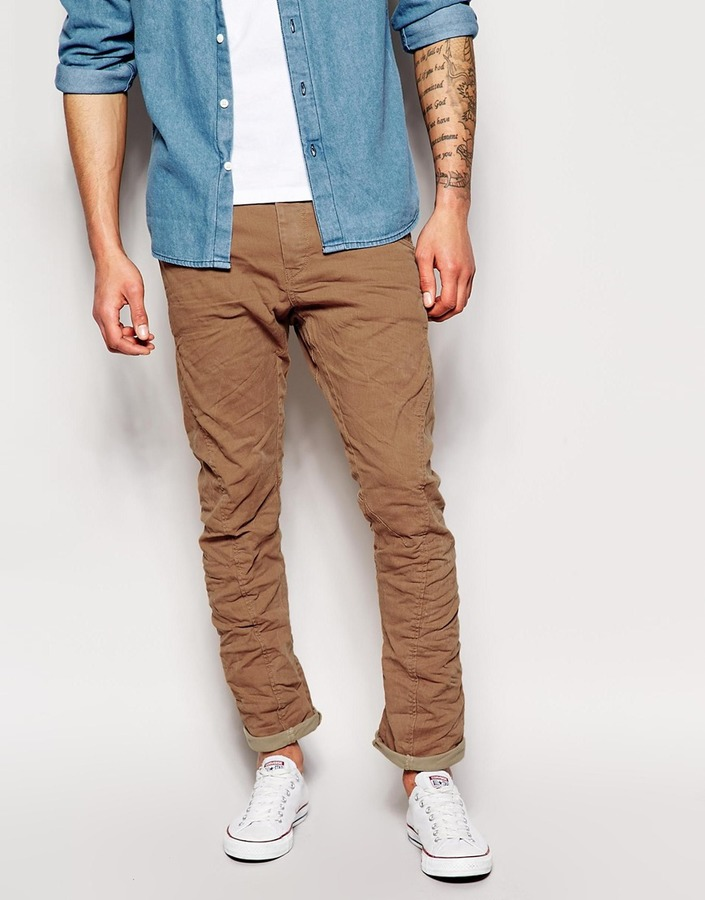 JACK AND JONES CHINOS ... jack and jones jack jones stan chinos in tapered fit ... ELHCOZQ