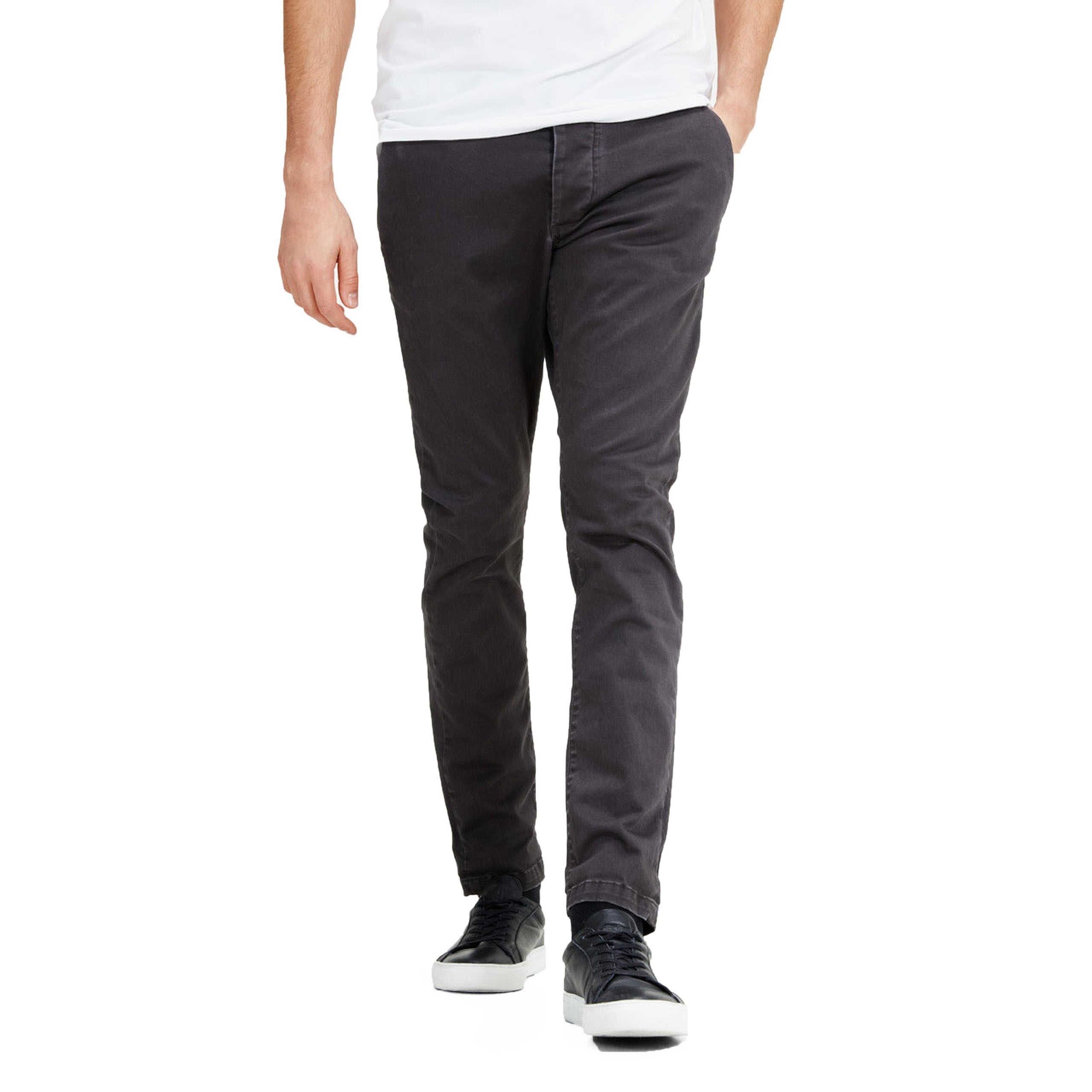JACK AND JONES CHINOS jack u0026 jones marco enzo casual cotton chinos dark grey DXAJYMG