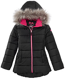 Jackets for girls rm 1958 big girls ashlyn hooded jacket with faux-fur trim KJZYSQG