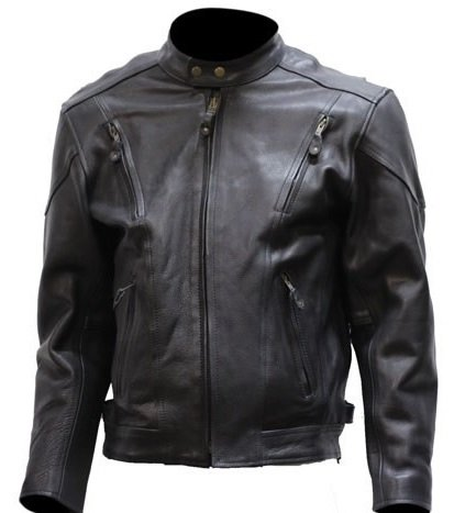 JACKETS IN SIZE 4XL big mens vented leather motorcycle jacket (size 4xl, 60) TSNMZYL