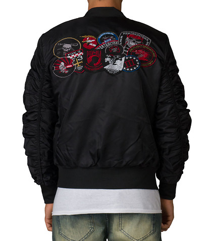 Jackets with Patches ... american stitch - outerwear - flight jacket with patches ... SLRTOWA