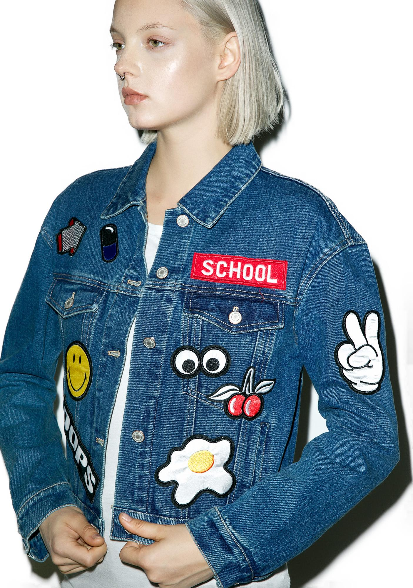 Jackets with Patches slappinu0027 patches denim jacket FHJNSQG