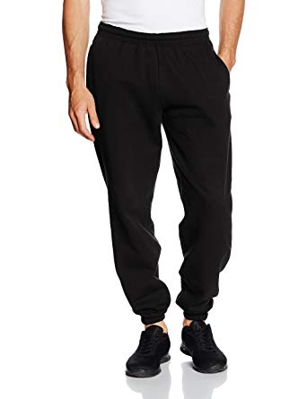 Jog pants fruit of the loom mens elasticated cuff jog pants/jogging bottoms (s) ( BPOSUHH