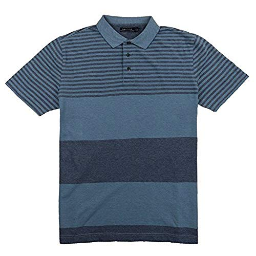 Knit Shirts nautica mens short sleeve knit polo golf shirt striped (xl, tide blue) MAQFNWB