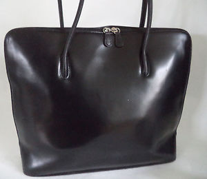 L.CREDI Bags image is loading l-credi-large-black-italian-leather-shoulder-bag- XIJOXGQ