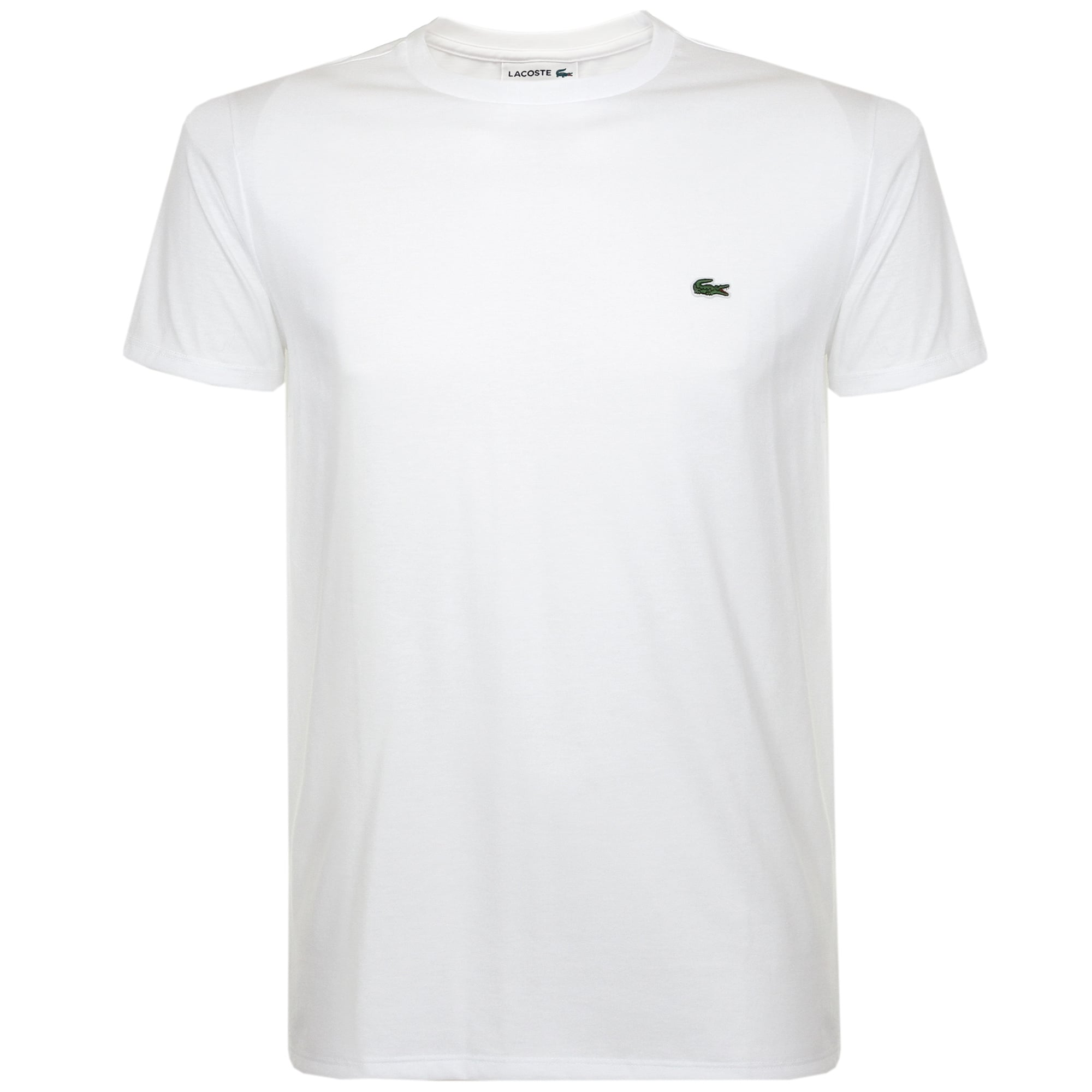 LACOSTE T-SHIRTS lacoste pima cotton white t-shirt th670900001 HCFPBFT