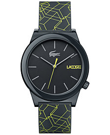 Lacoste watches for men lacoste menu0027s motion gray silicone print strap watch 41mm YDICNCS