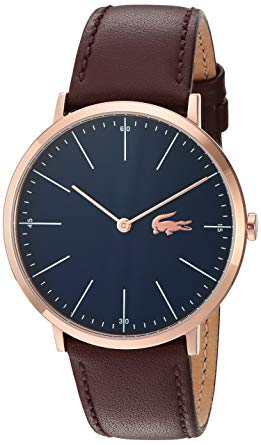Lacoste watches for men lacoste menu0027s quartz gold and leather watch, color brown (model: 2010871) DIVVUZL