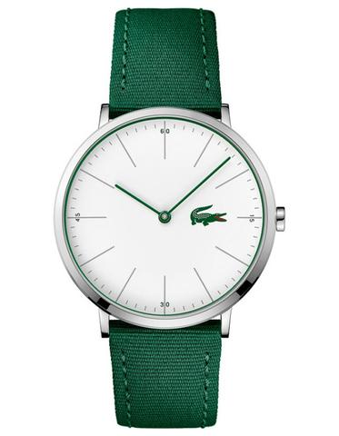 Lacoste watches for men lacoste mens ultra slim moon casual watch – stainless steel – green nylon PVHBGKT