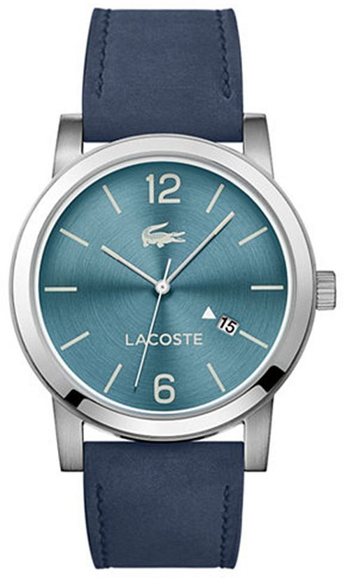 Lacoste watches for men menu0027s lacoste metro blue suede band watch 2010925 KERVVSF