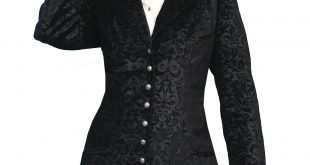 Ladies Frock coat scully ladies wahmaker old west vintage frock coat flocked cotton ... ZBIYYHX