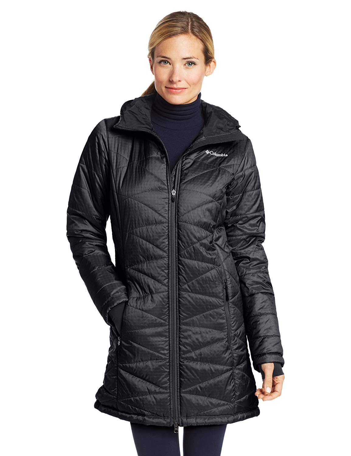Ladies Lightweight Winter Parka mighty lite hooded jacket XDSXSML