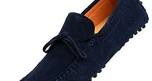 Loafers Shoes happyshop(tm) mens loafers shoes casual suede comfort slip-on tassel loafer  driving HSFFMAO