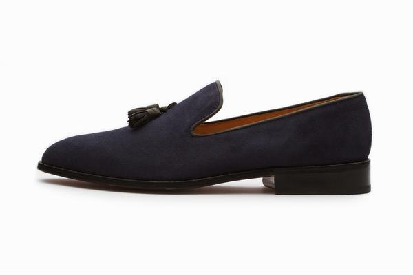 Loafers Shoes tassel loafers shoes - navy suede IPCUVIE