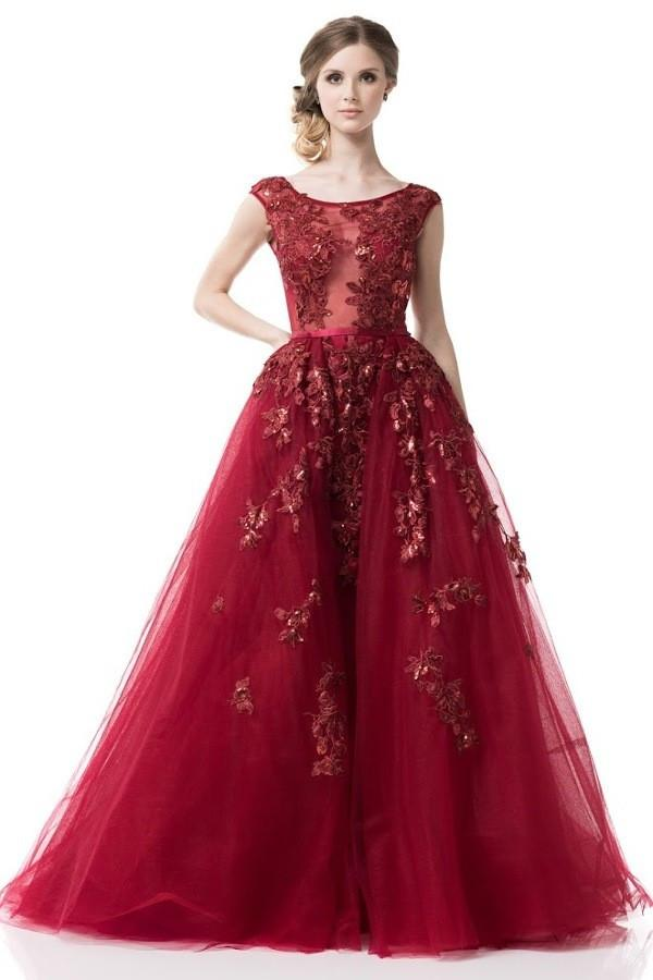 Long ball gowns ... 2018 fairytale prom dress long evening ball gown in burgundy ... ZGUNFXH