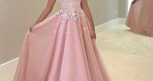 Long ball gowns white lace appliqued prom dress,ball gown pink prom dresses,long formal  dresses, JVVTUDF