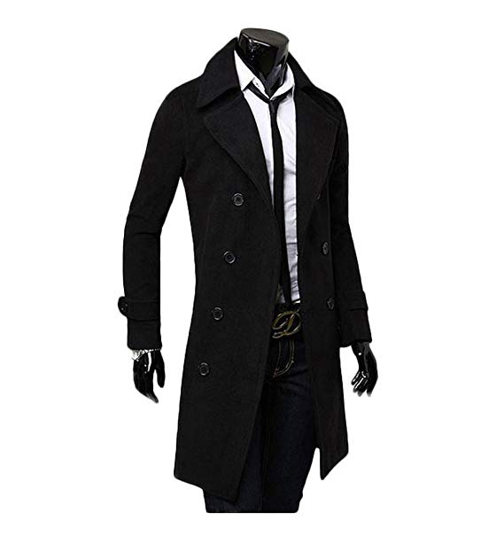Long Jackets king ma winter warm men slim trench double breasted overcoat long jackets  (chinese GFEOLTS