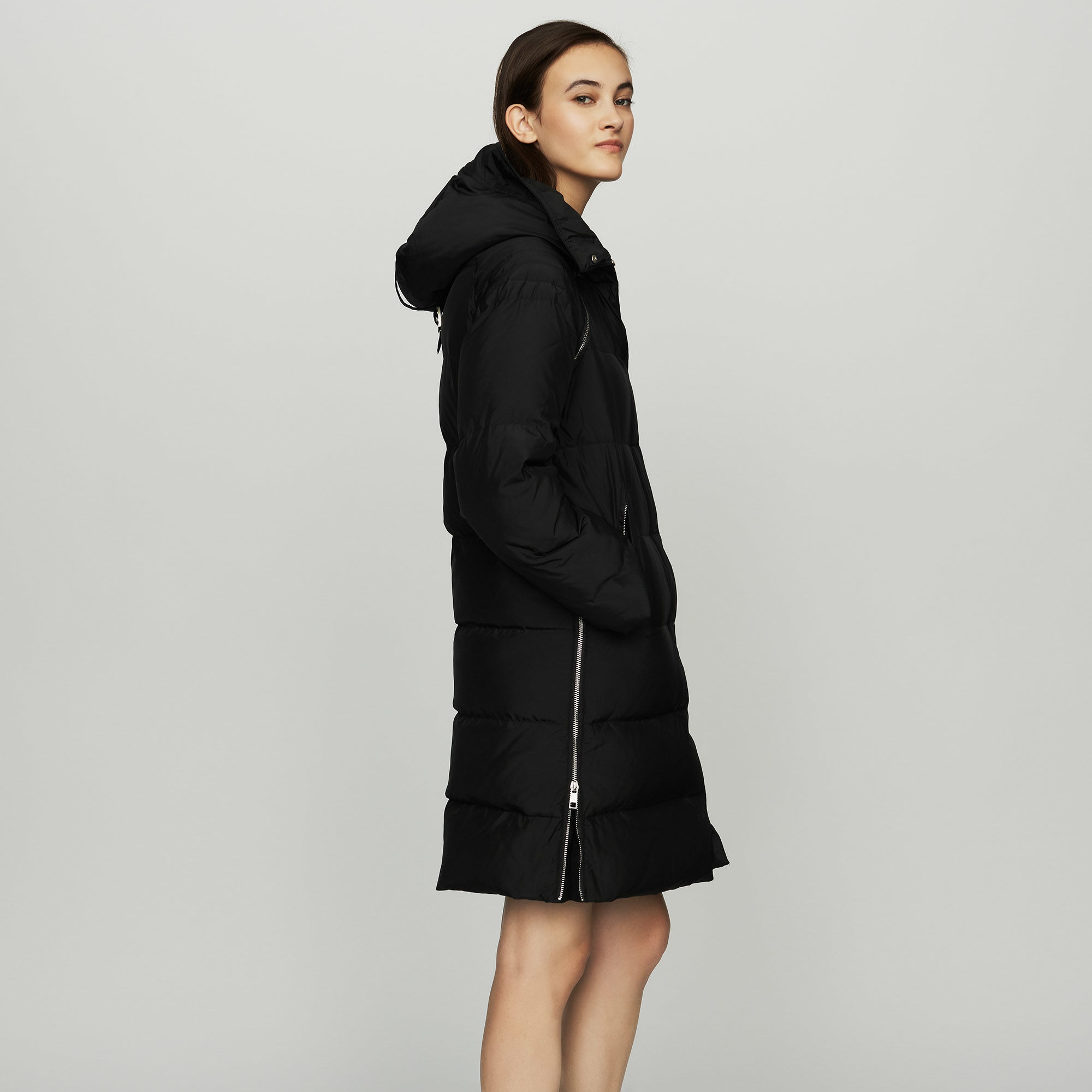Long Jackets long down jacket with hood : coats u0026 jackets color black 210 ALHPKEA