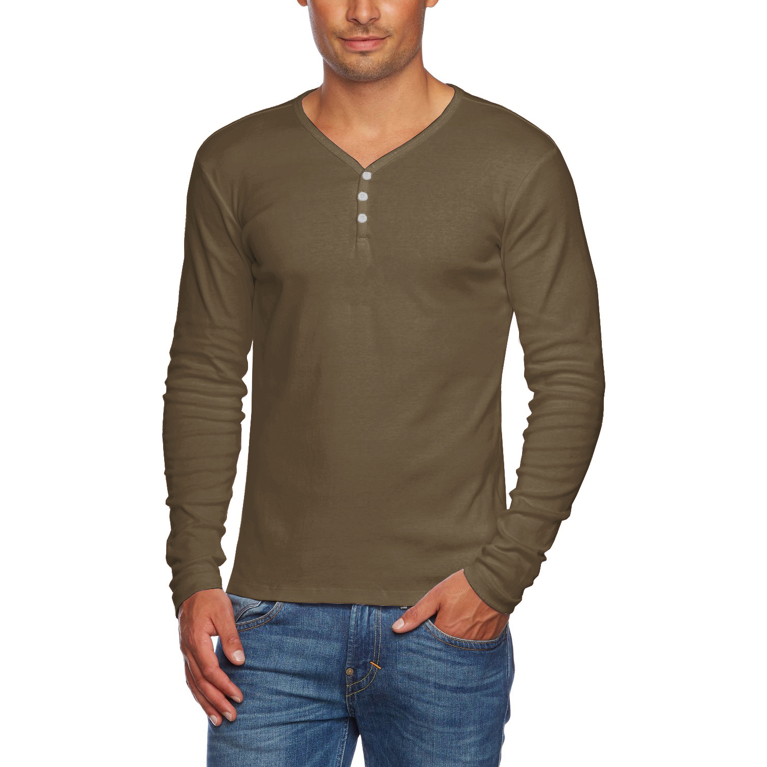 Long Sleeve Shirts for Men alta-men-039-s-slim-fit-v-neck- IEFLTJB