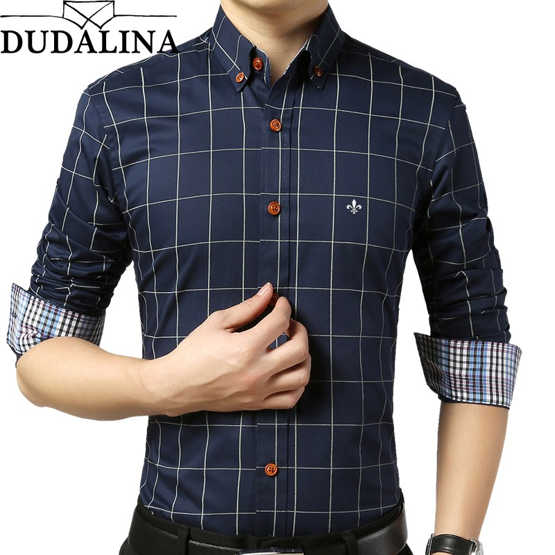 Long Sleeve Shirts for Men dudalina shirt male ... SXWLMPS