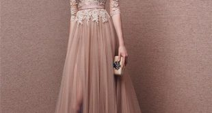 Long sleeved evening dresses nude and blush gowns in 2018 | prom night | pinterest | dresses, prom RLJZQIV