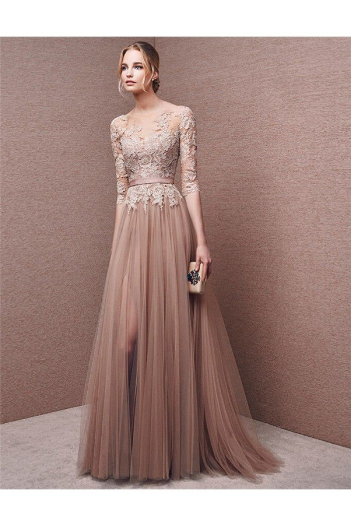 Long sleeved evening dresses