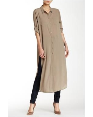 Long tunic cecico long sleeve split side maxi tunic at nordstrom rack - womens tunic  tops IERMPSF