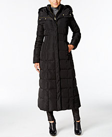 Long Winter Women's Coats cole haan signature hooded down maxi puffer coat GRGXKEL
